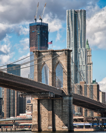 Brooklyn Bridge and WTC Under Construction | Joe Ligammari Photography