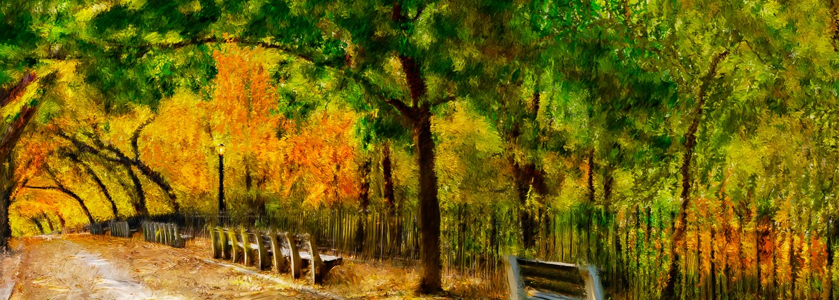 Shore Road Fall Foliage Painting | Joe Ligammari