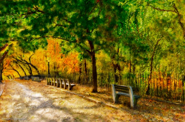 Shore Road Fall Foliage Painting | Joe Ligammari